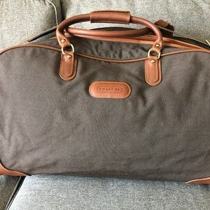 COACH Duffle Suitcase - Brown Travelweave